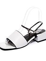 Women's Sandals Summer Mary Jane Leatherette Outdoor Dress Casual Flat Heel Walking