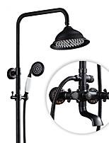עתיק גס מודרני מקלחת בלבד ניתן לסיבוב with  שסתום קרמי שתי ידיות שני חורים for  נחושת עתיקה , ברז למקלחת