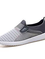 Черный Темно-синий Серый-Для мужчин-Повседневный-ТюльУдобная обувь Пара обуви-Мокасины и Свитер