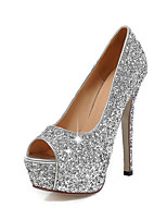 Women's Heels Summer Fall Club Shoes Synthetic Office & Career Party & Evening Dress Stiletto Heel Sequin