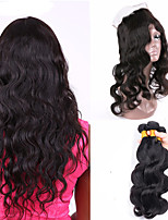 Natural Color Hair Weaves Brazilian Texture Body Wave 12 Months 4 Pieces hair weaves