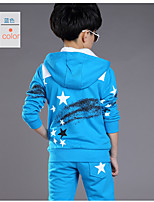 Boys' Casual/Daily Sports Geometric Sets,Cotton Winter Long Sleeve Clothing Set