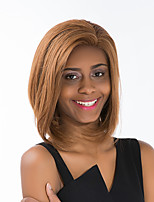 Attractive  Medium Long Bobo   Natural  Wavy  Women's Human Hair Lace Front Wig