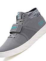 Hombre-Tacón Plano-Zapatos de los pares-Zapatillas de deporte-Informal-Ante-Negro Gris Azul