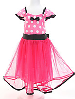 Girl's Beach Polka Dot Dress,Polyester Summer Sleeveless