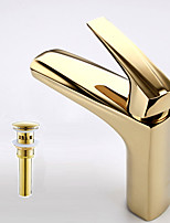 Contemporary Vessel Widespread with  Ceramic Valve Single Handle One Hole for  Ti-PVD , Bathroom Sink Faucet