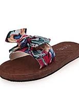 Damen-Slippers & Flip-Flops-Lässig-PU-Flacher Absatz-Komfort-Grün Blau