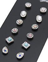 Stud Earrings Rhinestone Euramerican Vintage Alloy Geometric Jewelry For Daily 1set
