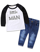 INS Toddler Kids Boy Infant Baby Clothes T-shirt Top Denim Pant Outfit Girls Jeans Pants Clothing Set Girl Party Dress