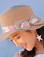 Для женщин На каждый день Шляпа от солнца,Лето Соломка Однотонный