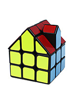 Shaped Magic Cube House Single Smokestack Black