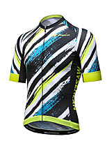 Mysenlan Cycling Jersey Men's Short Sleeve Bike Breathable Quick Dry Jersey Polyester Summer