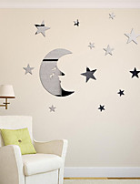 1PS  DIY  Romance Fashion Leisure Wall Stickers 3D Wall Stickers Mirror Wall Stickers Decorative Wall StickersGlass Material Home DecorationWall