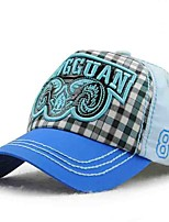Children's Tide Cool Comfortable And Cool  Comfortable And Cool Cartoon Label Cotton Plaid Duck Tongue Shade Baseball Cap