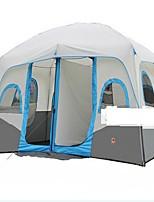 > 8 personnes Double Deux pièces Tente de campingRandonnée Camping Voyage-Gris