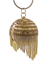 L.WEST Woman Fashion Diamonds Tassel Spherical Evening Bag
