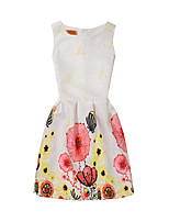 Girl's Print Dress,Polyester Summer Sleeveless