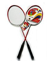 Badmintonschläger Dauerhaft Leichtes Gewicht Rutschfest Ferrolegierung Ein Paar für