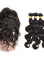Tissages de cheveux humains Cheveux Péruviens Ondulation naturelle 6 Mois 4 Pièces tissages de cheveux