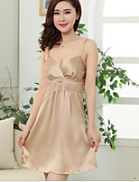 Women's Garters & Suspenders Nightwear Solid-Thin Silk Women's
