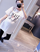 The new maternity pregnant women t-shirt bottoming casual short-sleeved white shirt letter big yards tide