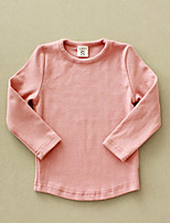 Casual/Daily Solid Blouse,Cotton Winter Spring Fall Long Sleeve