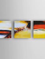Ручная роспись Абстракция Горизонтальная,Modern 3 панели Холст Hang-роспись маслом For Украшение дома