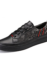 Men's Sneakers Spring / Summer / Fall / Winter Comfort PU Casual Flat Heel Lace-up Black  Walking