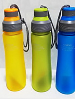 2Pcs Colored Outdoor Drinkware 600 ml Portable Plastic Water Water Bottle