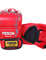 Boxing Gloves for Boxing Mittens Protective PU Black Red Blue