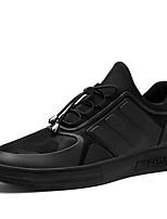 Черный-Для мужчин-Для прогулок Повседневный Для занятий спортом-Полиуретан-На плоской подошве-Удобная обувь-Кеды