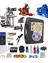 Complete Tattoo Kit 3 Machines G3A4Z1R1 Liner & Shader Dual LED Digital Power Supply