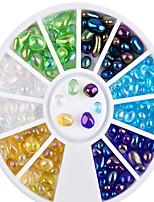 1 Decoración de uñas Las perlas de diamantes de imitación maquillaje cosmético Dise?o de manicura