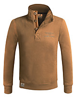 Men's Casual/Daily Sports Sweatshirt Solid Round Neck Micro-elastic Cotton Long Sleeve Winter