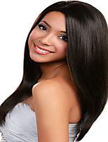 in voorraad - 130% dekking 12-18inches pruiken kant voor pruiken Braziliaanse human hair yaki rechte pruiken voor vrouwen