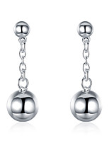 Tropfen-Ohrringe Kristall versilbert Kreisförmiges Design Runde Form Silber Schmuck Hochzeit Party Halloween Alltag Normal 1 Paar