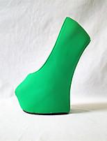 Mujer-Plataforma-Innovador-Tacones-Fiesta y Noche-PU-Negro Fucsia Verde Rosa