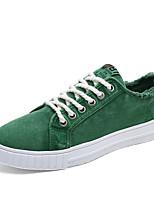 Белый Оранжевый Серый Зеленый Синий-Для мужчин-Для прогулок Повседневный Для занятий спортом-Тюль Полотно-На плоской подошве-Удобная обувь