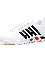 Men's Sneakers Spring Summer Fall Winter Comfort PU Outdoor Casual Athletic Badminton Lace-up White Black Red Blue