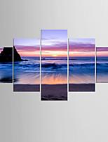 Estampados Fotográfico Paisagem Moderno Clássico,5 Painéis Tela Qualquer Forma Impressão artística Decoração de Parede For Decoração para