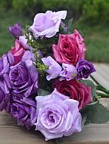 1 Ramo Plástico Rosas Flor de Mesa Flores artificiais 25*25*30