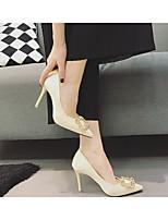 Белый-Для женщин-Повседневный-Резина-На низком каблуке-С Т-образной перепонкой-Ботинки