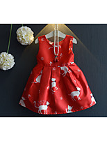 Girl's Casual/Daily Solid Dress,Cotton Summer Spring Sleeveless