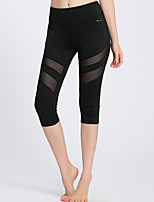 Women's Running 3/4 Tights Breathable Anti-Eradiation Sweat-wicking Compression Spring Summer Fall/Autumn Yoga Running Terylene Tight
