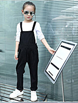 Girls' Casual/Daily Striped Overall & Jumpsuit-Cotton Spring