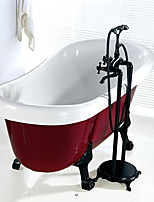 Contemporary Antique Art Deco/Retro Tub And Shower Rain Shower Handshower Included Pullout Spray with  Ceramic ValveSingle Handle Two