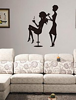 Shapes Wall Stickers Plane Wall Stickers Decorative Wall StickersVinyl Material Home Decoration Wall Decal Barber Shop Fashion