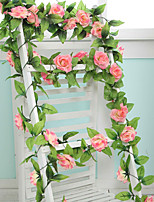 9 Flowers 2 M Longth Artificial Fake Silk Rose Flower Ivy Vine Hanging Garland Wedding Decor Party Home Garden Decoration