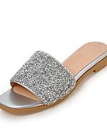 Women's Slippers & Flip-Flops Summer Fall Slingback Synthetic Dress Casual Flat Heel Sequin