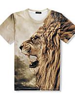 Men's  Beach Holiday Boho Street chic  Spring Summer T-shirt Animal Print Round Neck